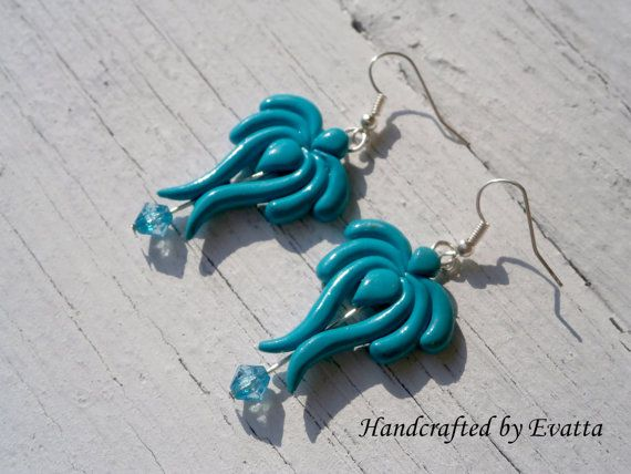 Turquoise folk earrings by EviJewelry on Etsy, $15.00
