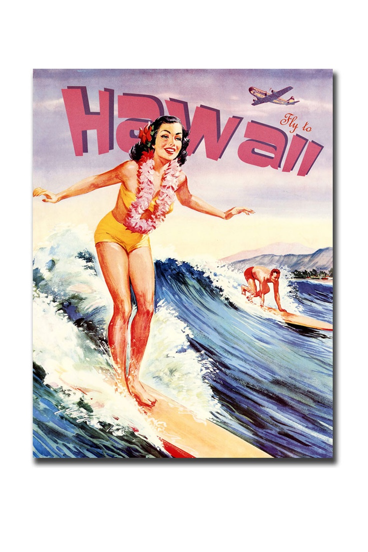 Hawaii, Gallery Wrapped Canvas Art - Beyond the Rack