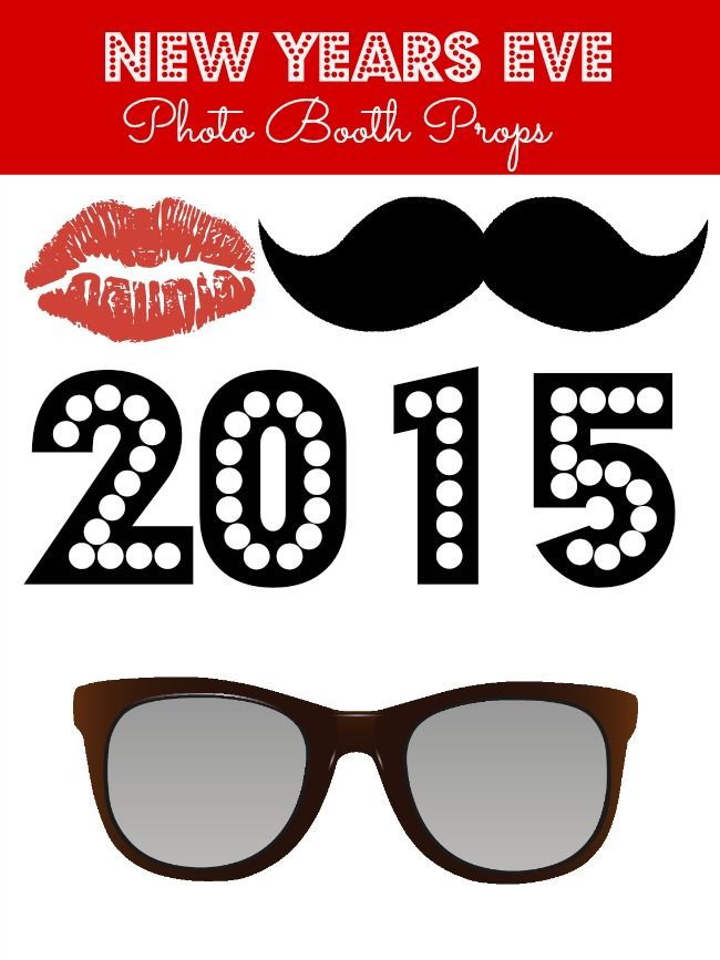 New Years Eve Free Printable Photo Booth Props Photo Props