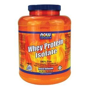 NOW Foods Whey Protein Isolate, 100% Pure 5Lb: Health & Personal Care
