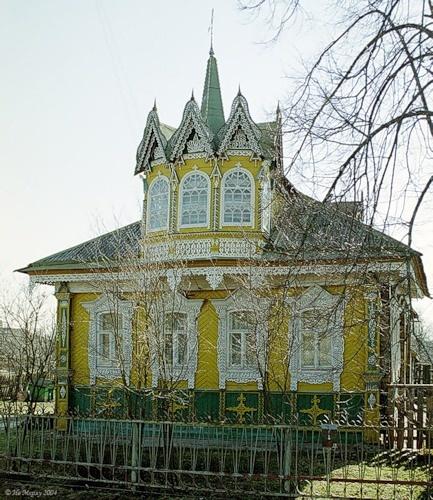 Красивейший дом в г.Мышкино Ярославской области/Decorated with carved facade in Yaroslavl oblast, Russia