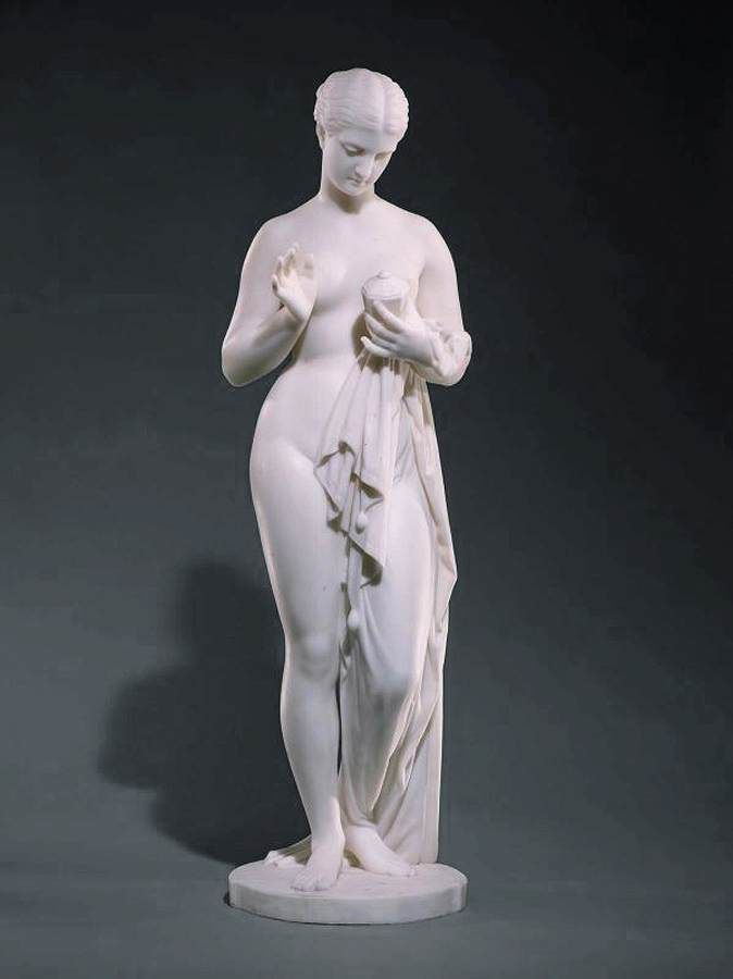 Chauncey B. Ives, Pandora c. 1863 Marble, height 95 cm Museum of Fine Arts, Boston
