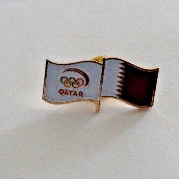 Qatar Olympic Games Pin Pinback