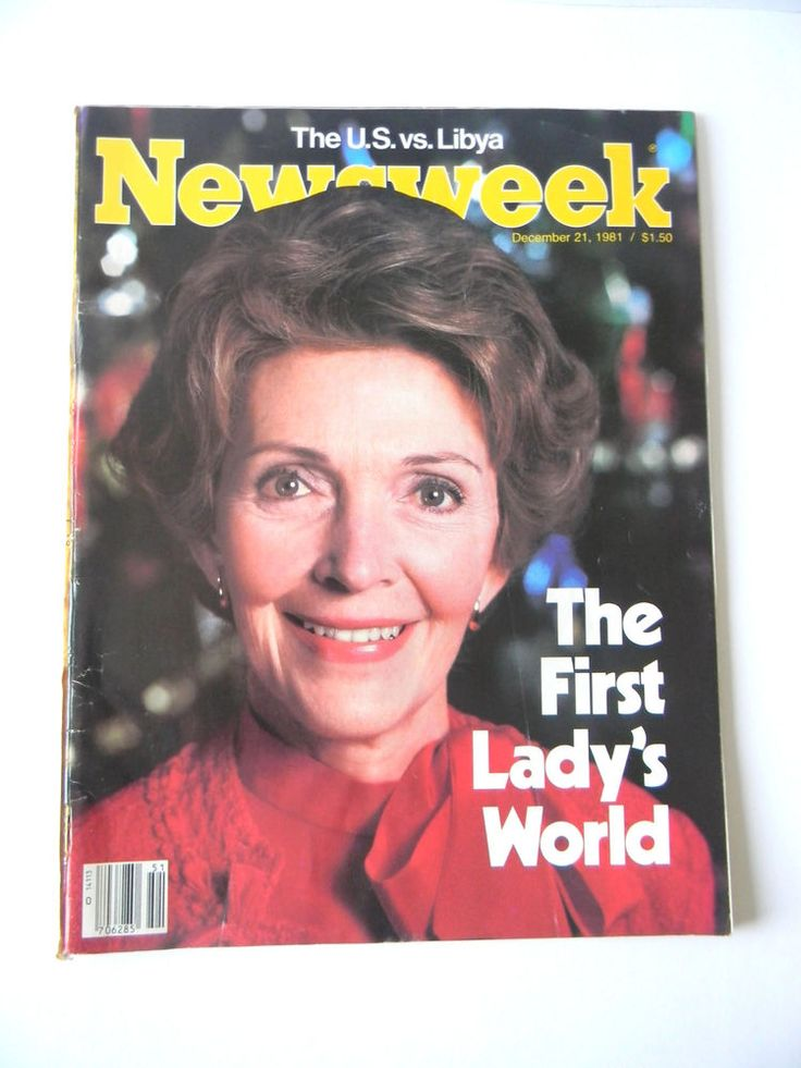 Newsweek Magazine Dec. 21 1981 US vs. Libya Prince Nancy Reagan Nato Greek Egypt