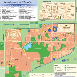 University Of Florida Campus Map University Of Florida