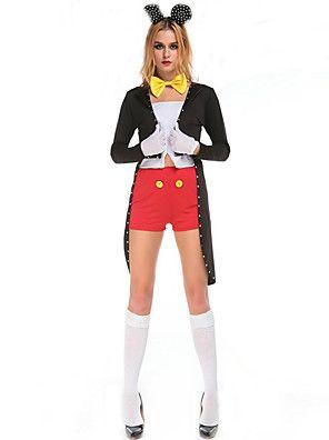 Cosplay Kostuums Dieren / Sprookje Film Cosplay Zwart Effen Top / Broeken / Helm / Smoking Halloween / Kerstmis / Nieuwjaar Vrouwelijk – EUR € 35.27