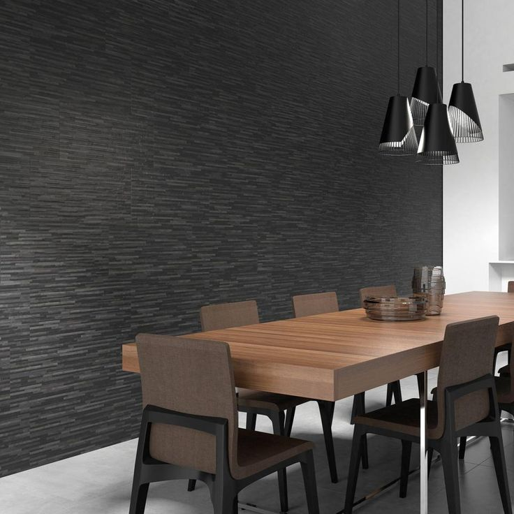 Beret Black Strips 600 x 300mm Tiles. Textured tiles add personality and a unique twist to traditional tile designs. Express yourself and introduce these fun textured tiles to your décor.  https://www.tileflair.co.uk/product/beret-black-strips #BlackTiles #BlackInteriors #InteriorDesign #HomeDecor #Decorating #Tiles #WallTiles #FloorTiles #BathroomTiles #KitchenTiles #ContemporaryTiles #IndustrialDesign