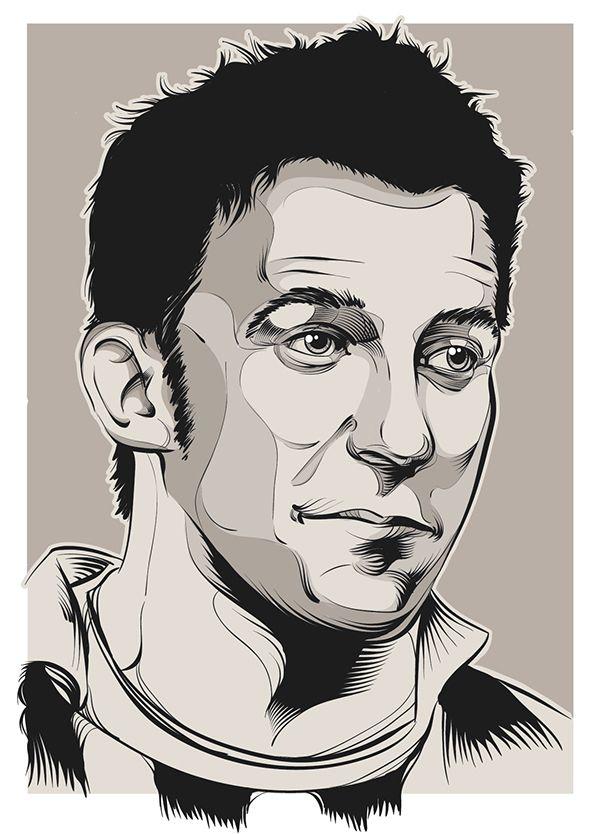 Footballer Alessandro Del Piero illustration #DelPiero #Football #juventus #vector #illustration
