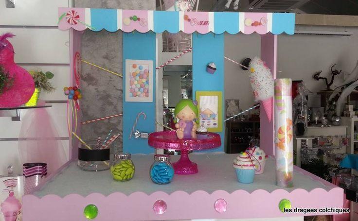 D cor pour boite drag es bapteme ou mariage th me - Decoration theme gourmandise ...
