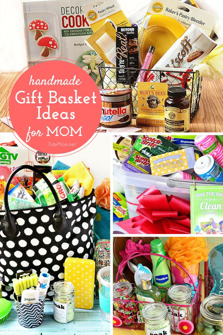 Great gift ideas for mother's day! Can't think of something to give your mom? Try one of these gift basket ideas!