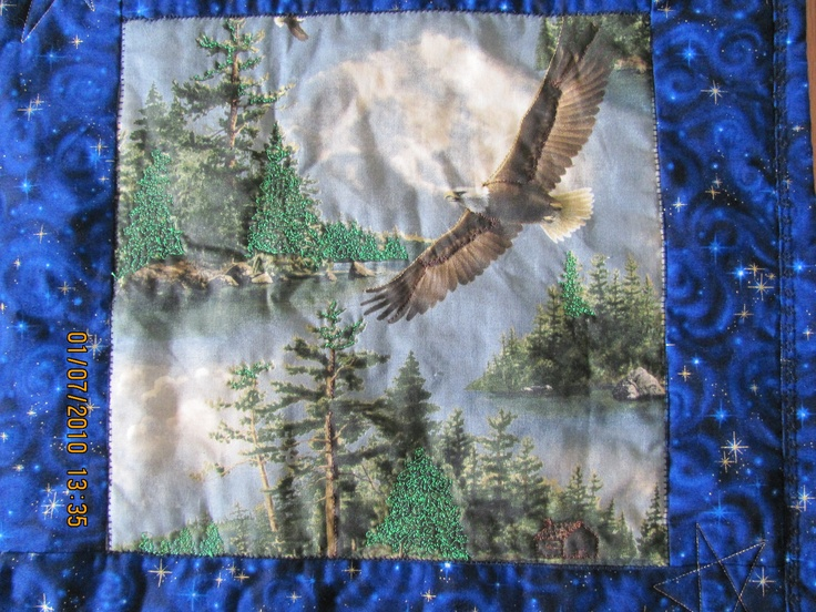 Memory Quilt Block -  Eagle / Outdoors  $50.   Plus Handling and Shipping.     marilynpearson2@gmail.com
