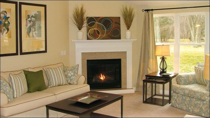 Corner Stone Fireplace Vaulted Ceiling No Culture Stone