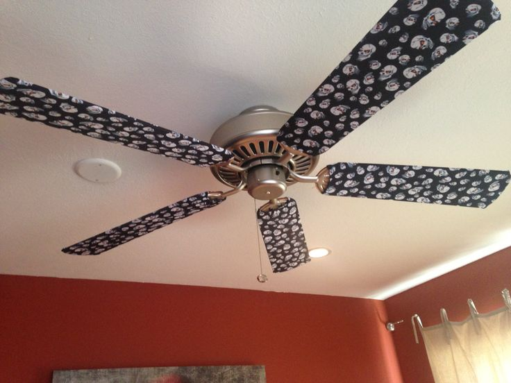 Our Skulls fan blade covers are what we like to call Halloween Lite. Scary…