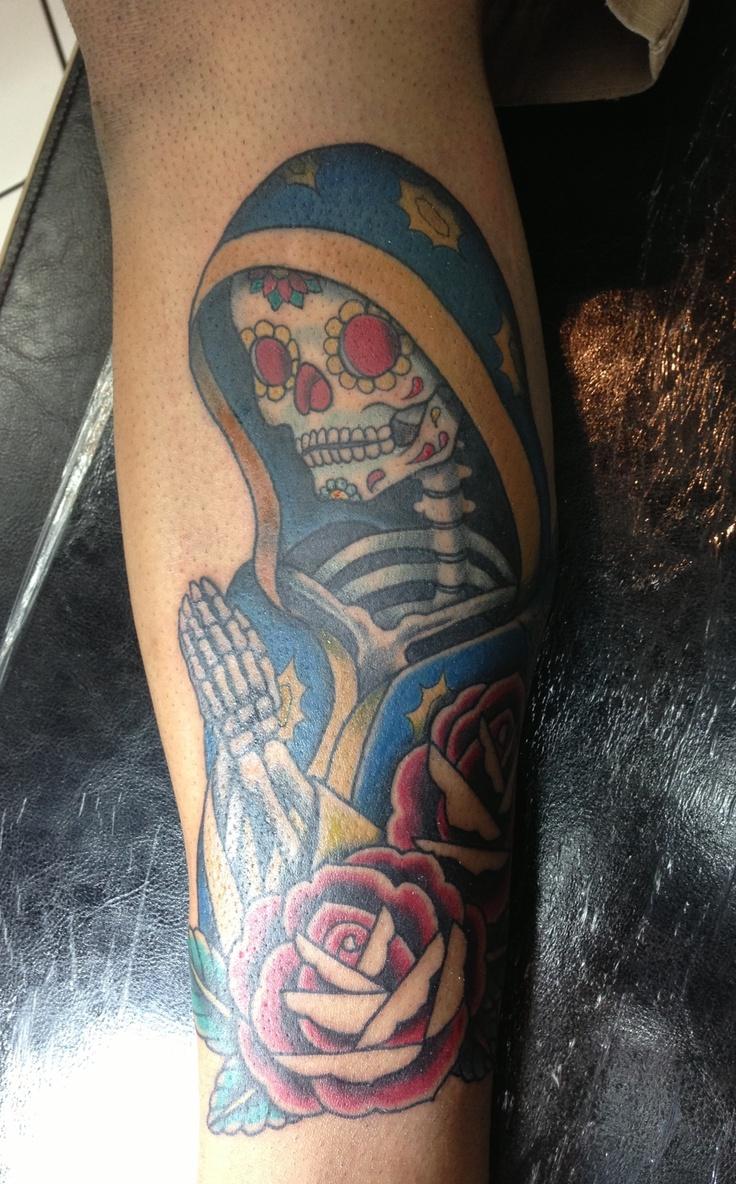 Tribal Santa Tatoo: Santa Muerte Tattoo!