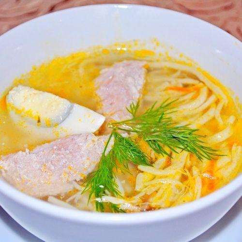 Суп домашняя лапша с говядиной