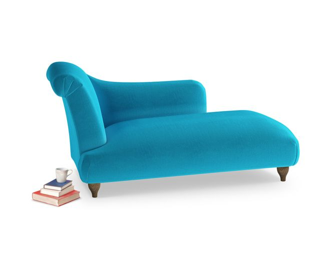 The Brontë chaise longue is beautifully handmade by our skilled craftsmen in Blighty. It comes in a choice of over 120 fab fabrics.