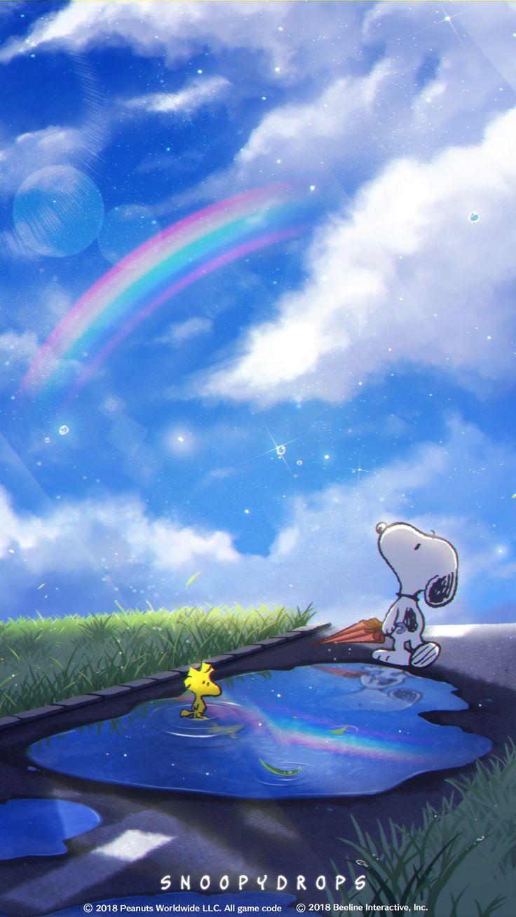 Snoopy スヌーピー(雨上がり) Fondos Y Protector De Pantallas