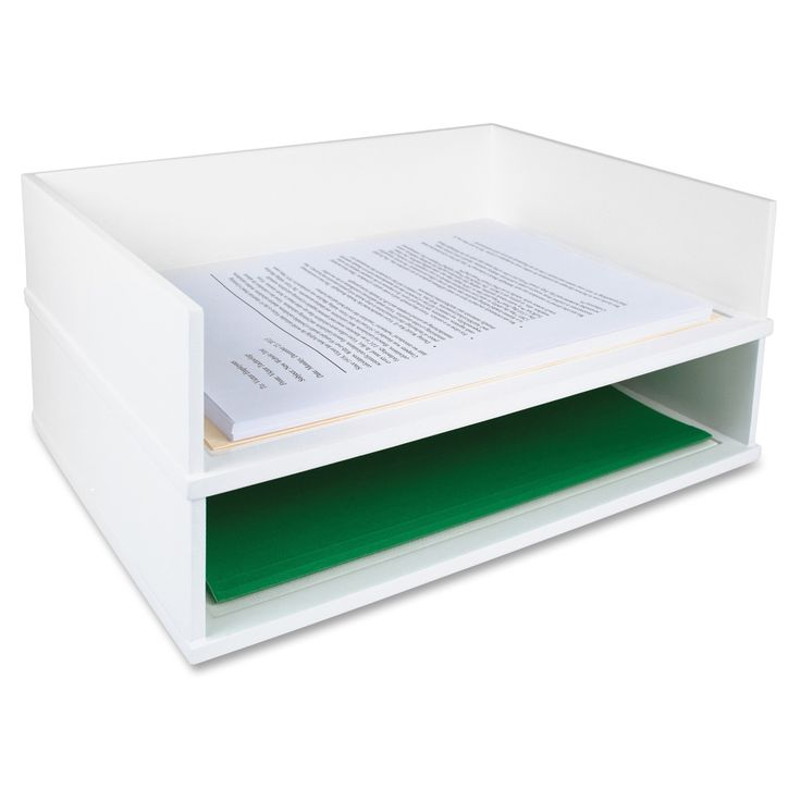 Victor Pure White Collection Wood Stacking Letter Tray - White   Overstock.com Shopping - The Best Deals on Letter Trays