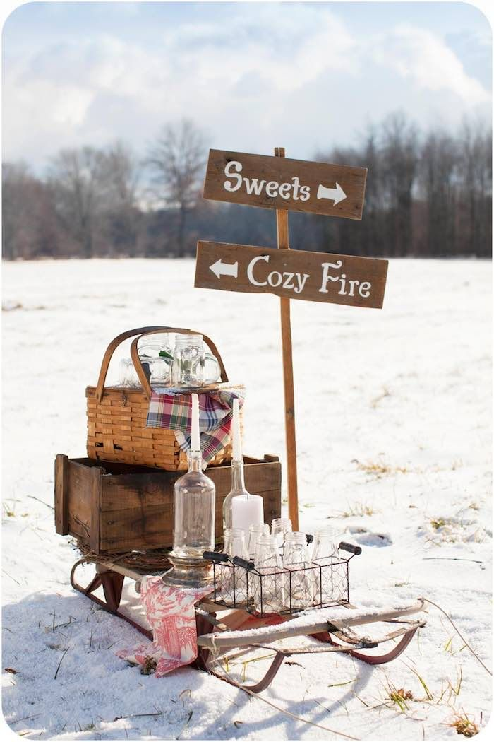 Rustic Winter Wonderland Outdoor Party