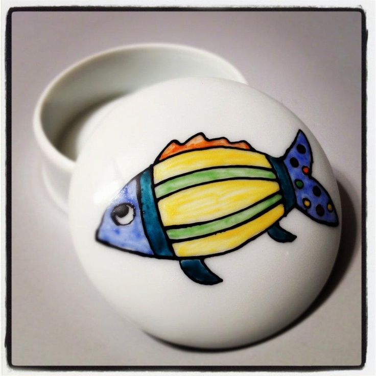 Fish Hand-painted ceramic!