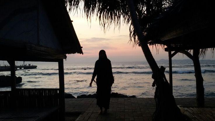 petang di Pantai Anyer Serang