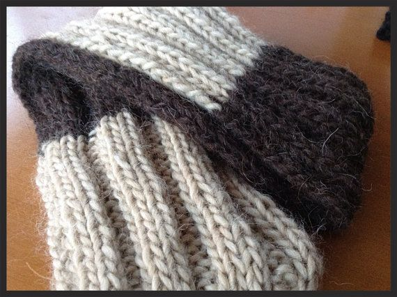 Chocolate and caramel knitted snood by RTMDesigns on Etsy