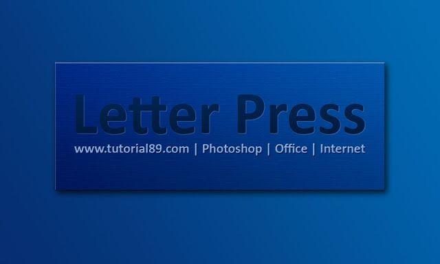 Cara mudah membuat tulisan efek letterpress dengan photoshop