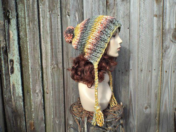 338951213df Rainbow Slouchy Hat Womens Hat - Coney Island Rainbow Hat Rainow Beanie  Rainbow Slouchy Beanie - Charlotte Multi Color Slouchy Ear Flap Hat