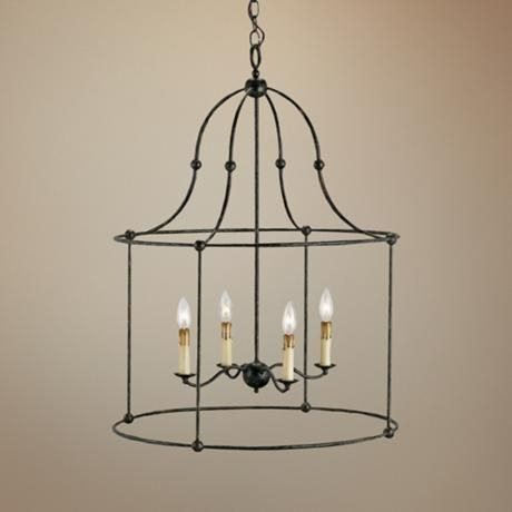 Currey And Company Fitzjames 25 Wide Lantern Chandelier