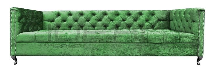 Chesterfield - Sofa Chesterfield London Ludwik - IdealMeble sofa chesterfield, zielona sofa, styl angielski, green