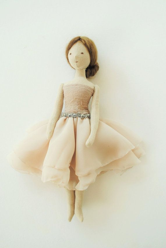 Cloth doll / ballerina / one of a kind / handmade by by willowynn