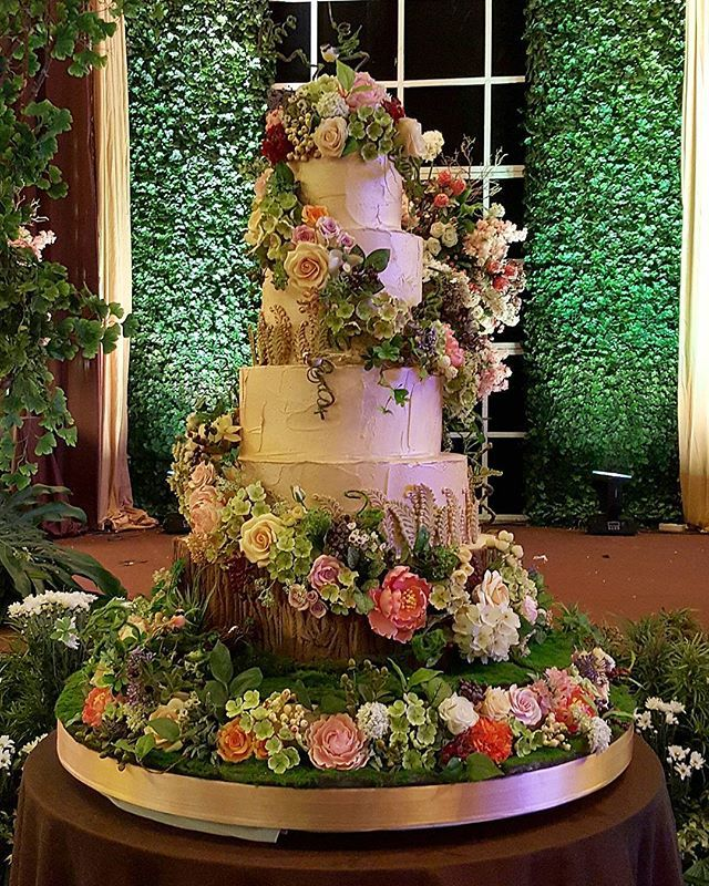 Enchanted forest theme cake | wedding cakes | Pinterest ...
