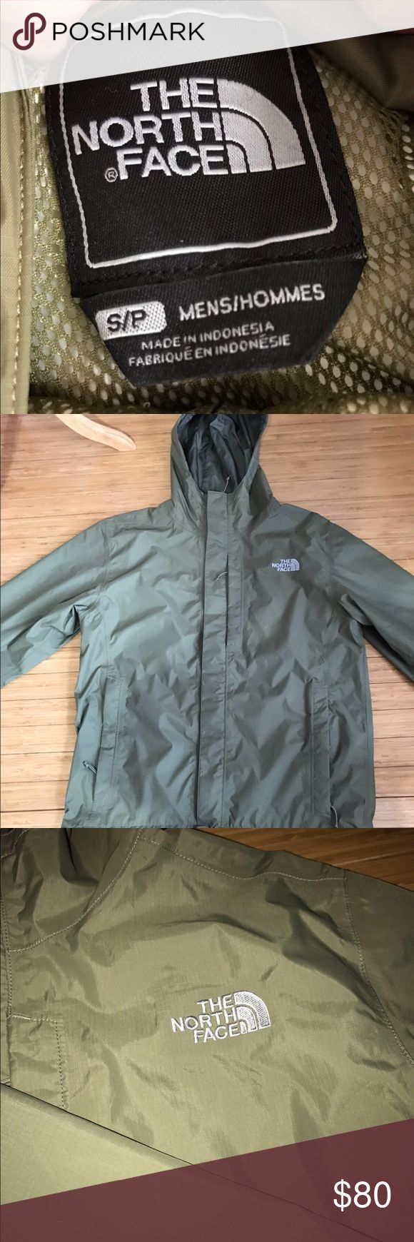 North Face Men's Raincoat Men's North Face Rain Coat / Retail $120 / worn 2 times / 10/10 perfect condition / just like new / purchased a few years ago (just didn't fit right for me) / size Small in men's / Olive Green The North Face Jackets & Coats Raincoats