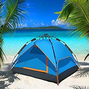 WolfWise Tenda Istantanea Matrimoniale con Meccanismo Idraulico Tenda Automatica per Campeggio Pesca Attività all'aperto Over-night Blu