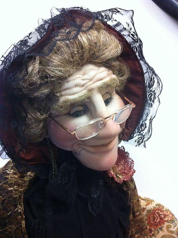 Купить Ростовая кукла Розолинда Андревна - бабушка, интерьерная кукла, интерьер, интересный подарок