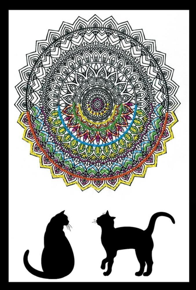 Zenbroidery - Cat Mandala