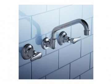 Trident Lever Wall Sink Set, it has a cross handle design that fits perfectly into both traditional or contemporary style. Click here > > https://www.youplumbing.com.au/trident-lever-wall-sink-set.html  #onlineproducts #Caroma #Sink