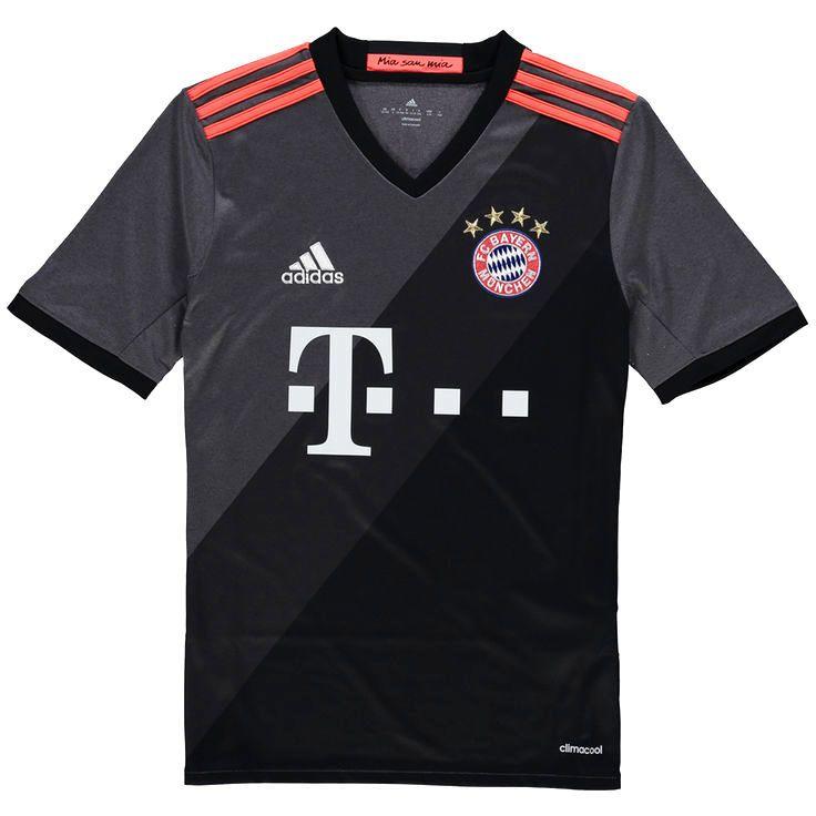 Bayern Munich adidas Youth 2016/17 Away Jersey - Gray - $55.99