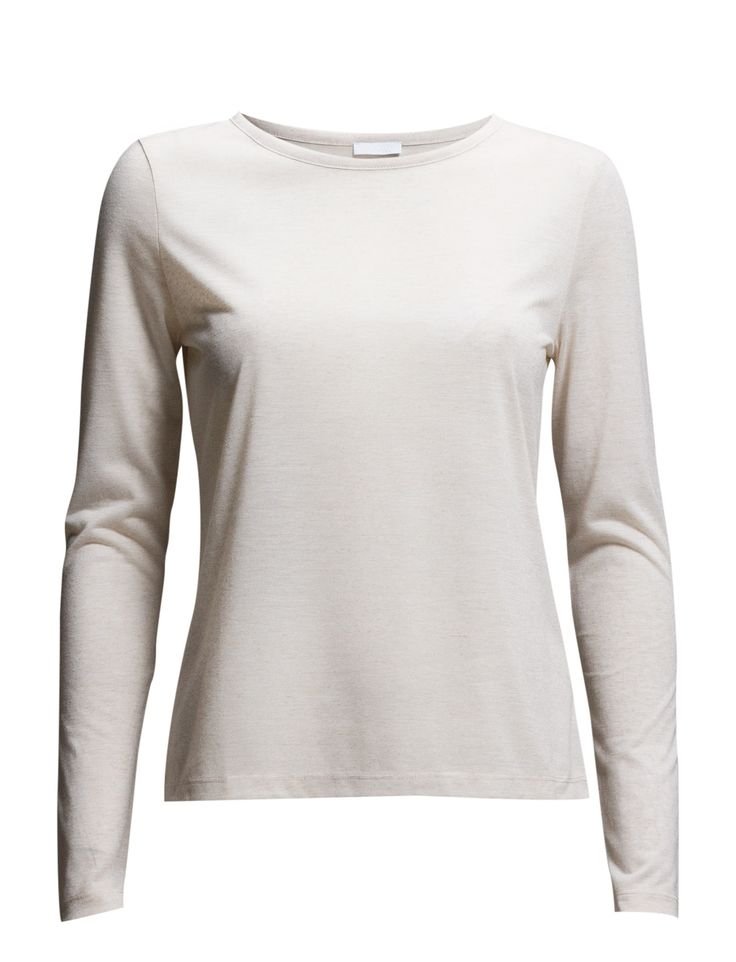DAY - 2ND Town Long sleeves Round collar Made from a linen blend. Classic Office wear Practical Simple T-Shirt