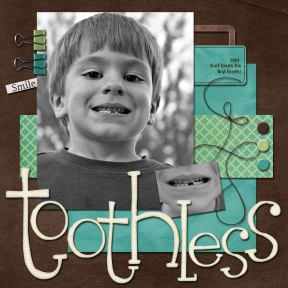 Toothless  - scrapbooking layout idea
