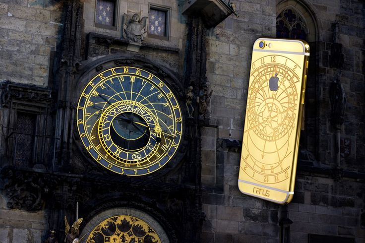 The latest model of iPhone with engraved astronomical clock and 24 carat gold plating. See more at www.rarus-exclusive.com #iphone6s #rarusexclusive #24k 24caratgoldiphone6s