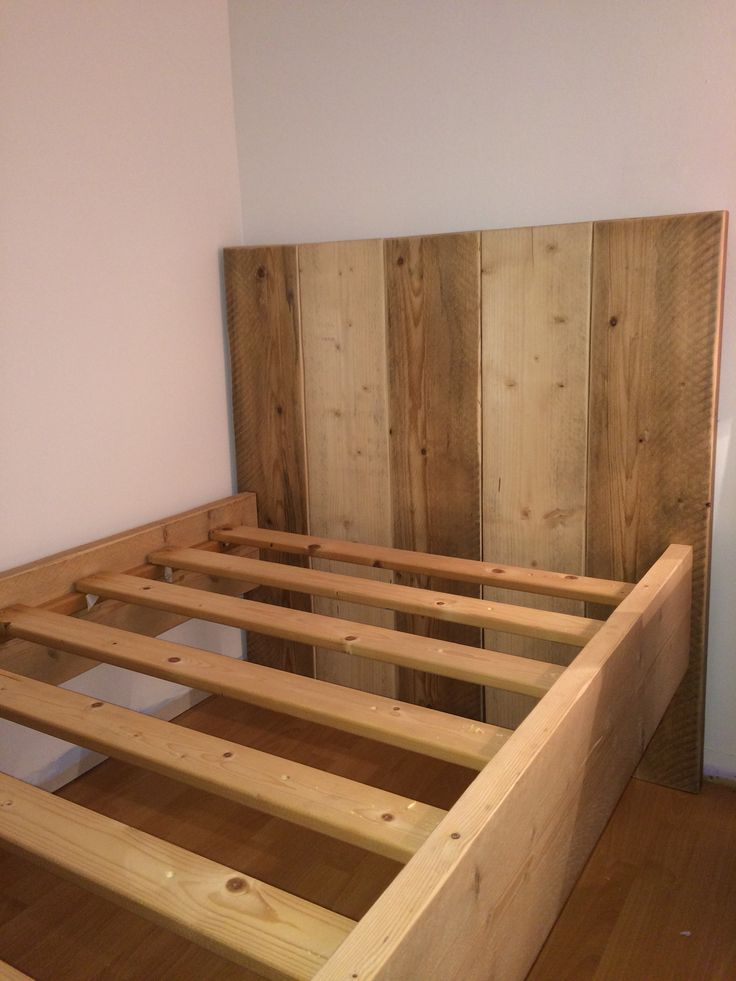 59 Incredibly Simple Rustic Décor Ideas That Can Make Your: Bed Made Out Of Reclaimed Scaffold Boards