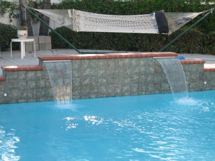 105 best images about pools on pinterest pool waterfall for Beautiful swimming pools with waterfalls