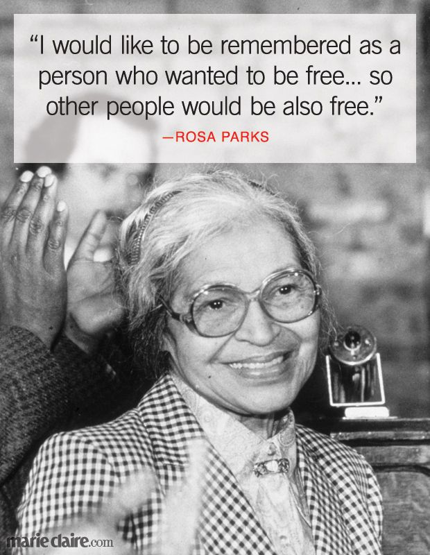 25+ best Rosa parks quotes on Pinterest | Black history month ...