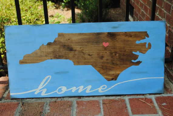 Show your love of your state, and love of your home with this handpainted custom sign. Each sign measures approximately 11 x 24. This is a