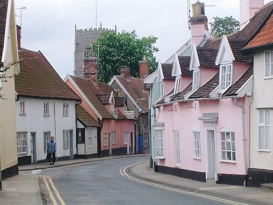 The 'well-loved' market town of Framlingham, Suffolk, England, where the supermarket is carefully tucked away so that only the locals know of it's existence. It was an important place in Tudor times, and not a lot has happened since. (Quoted from Country Life).