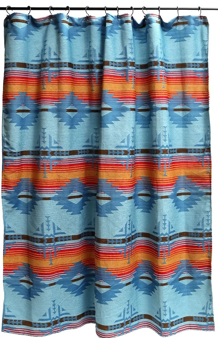 Blue Diamond Shower Curtain - Southwestern Bath Decor