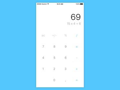 iOS Basic Calculator App Design