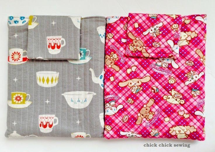 chick chick sewing: Cinamoroll iPad cover for my daughter ♪長女にシナモロールの iPad カバー♪