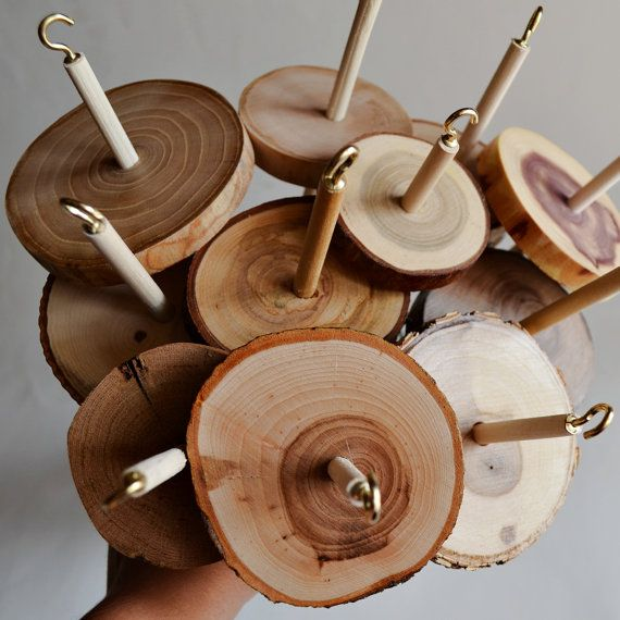 Natural Wood Drop Spindle  Top Whorl Acacia Raw by sunniefairy How fab are they?!!